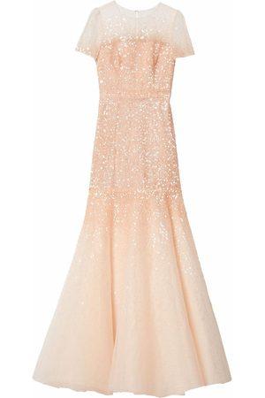 Carolina Herrera Sequin-embroidered trumpet gown