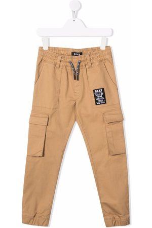 DKNY Camel cargo trousers