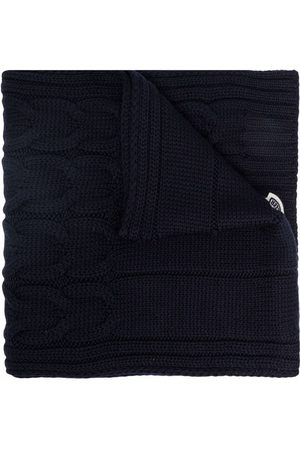 Moncler Cable knit logo-patch scarf