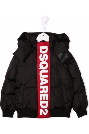 Dsquared2 Logo-tape padded hooded jacket