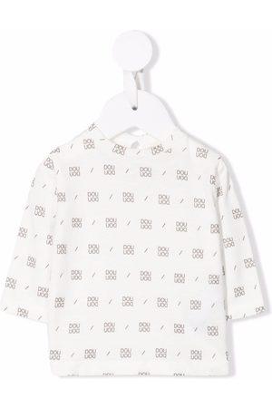 DOUUOD KIDS All-over logo sweatshirt