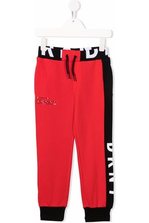 DKNY Two-tone cotton track pants