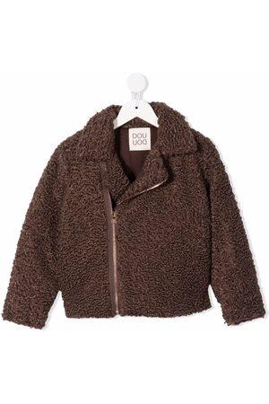 DOUUOD KIDS Meisjes Donsjassen - Faux-shearling hooded jacket