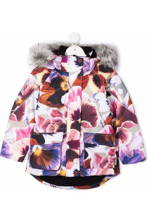 Molo Floral-print hooded coat