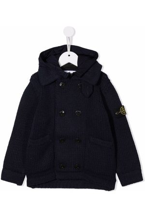 Stone Island Purl-knit double-breasted jacket
