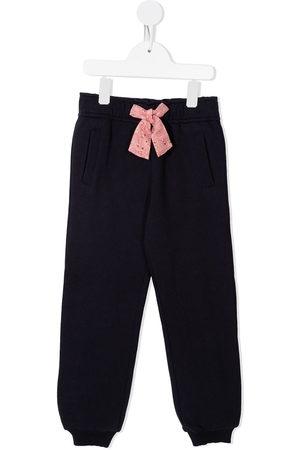 Chloé Meisjes Joggingbroeken - Bow-detail track pants
