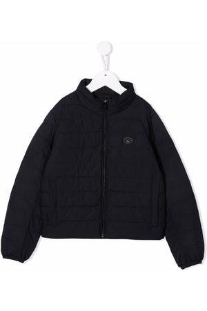 Emporio Armani Chest logo-patch jacket