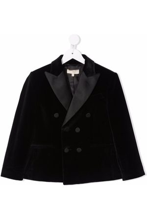 Elie saab Contrast-colour double-breasted blazer