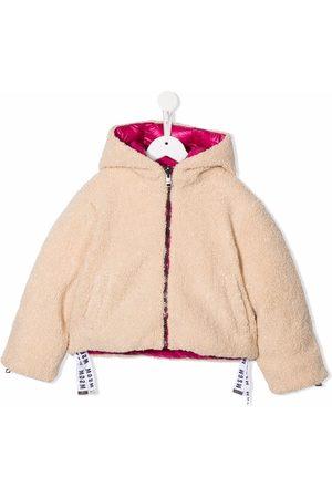 Msgm Reversible logo-print hooded jacket