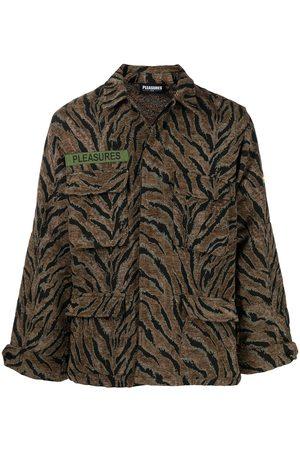 Pleasures Jungle camouflage tiger-stripe jacket