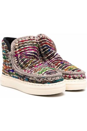 Mou Snowboots - TEEN Colourful knitted eskimo boots