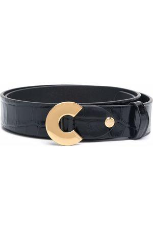 Coccinelle Dames Clogs - Croc-effect leather belt