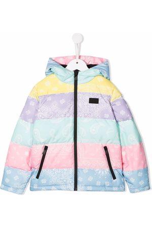 MC2 SAINT BARTH Paisley-print hooded down jacket