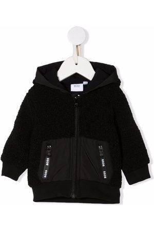 HUGO BOSS Donsjassen - Logo-strip hooded jacket