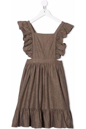 The New Society Meisjes Casual jurken - Ruffle-trim crossover-straps dress