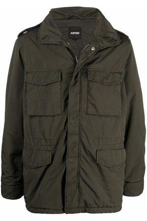 Aspesi Crinkled-finish military jacket
