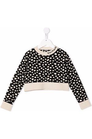 Balmain Meisjes Sweaters - Geometric print sweatshirt