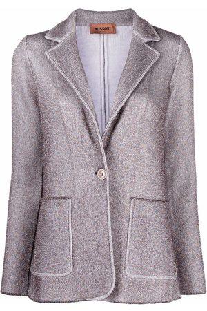 Missoni Metallic threading knitted blazer