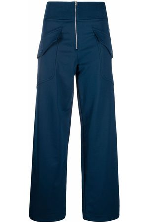 Kenzo Dames Wijde broeken - Flap pockets zipped palazzo trousers