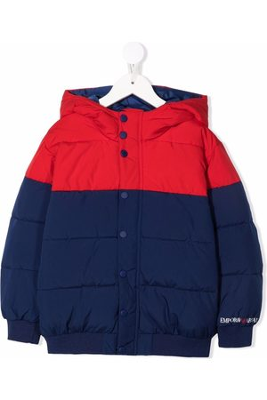 Emporio Armani Logo-print hooded puffer jacket