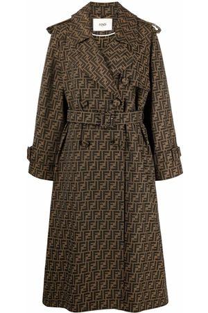 Fendi FF-logo print coat