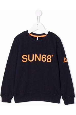 sun68 Jongens Sweaters - Logo-print crewneck sweatshirt
