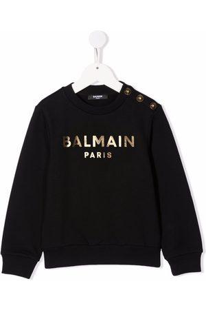 Balmain Meisjes Sweaters - Logo print sweatshirt