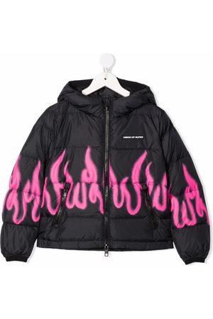 Vision Of Super Meisjes Donsjassen - Flames print padded jacket