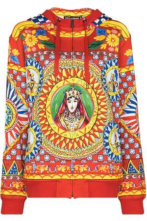 Dolce & Gabbana D G ZIP UP LS PRNT MX JRSY HOODED SWEATS