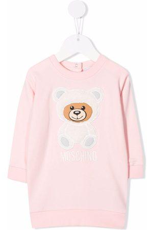 Moschino Meisjes Casual jurken - Teddy Bear-embroidered jersey dress