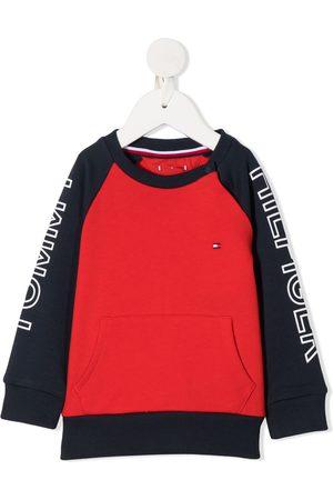 Tommy Hilfiger Sweaters - Logo-print crew neck sweatshirt