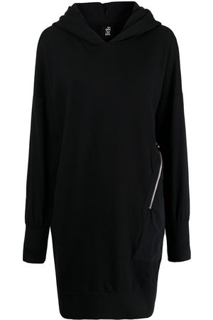 THOM KROM Zip-detail hooded jumper dress