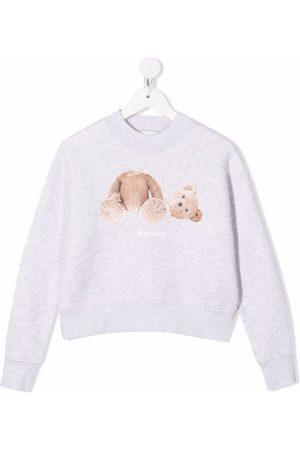 Palm Angels Meisjes Sweaters - Teddy bear print sweatshirt