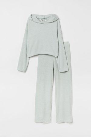 H&M Meisjes T-shirts - 2-delige set van viscosemix - Turquoise