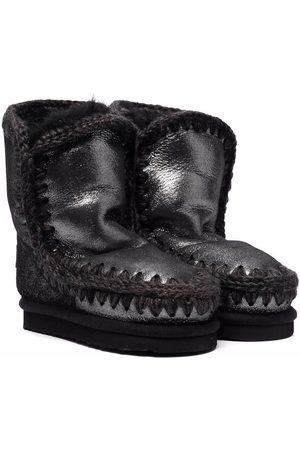 Mou Metallic Eskimo shearling boots