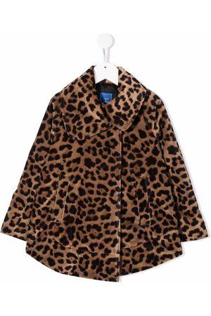 FAY KIDS Animal print coat