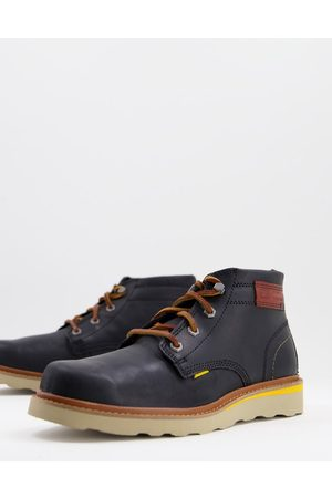 Caterpillar Jackson mid lace up boots in black leather