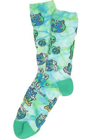 Rip N Dip Heren Sokken - Save The World Socks tiedye