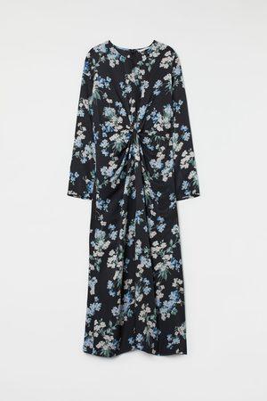 H&M Dames Midi jurken - Jurk met geknoopt detail