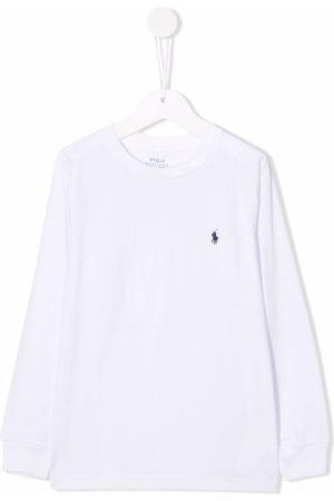 Ralph Lauren Poloshirts - Embroidered-logo round neck T-shirt