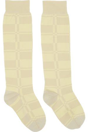 Jil Sander Dames Sokken - Check Jacquard Socks