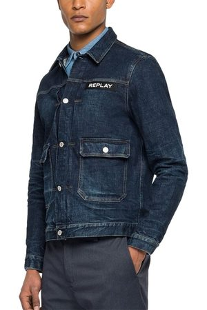 Replay Heren Korte jassen - Jeans jacket dark blue