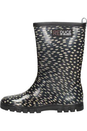 Reduce By Braqeez Meisjes Regenlaarzen - Rainboot Dots Black Taupe