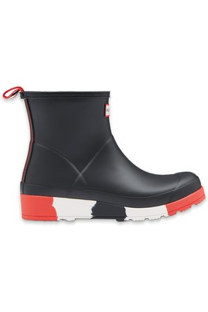Hunter Dames Regenlaarzen - Regenlaarzen Womens Play Short Stripe Sole Wellington Boots