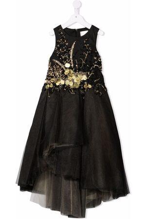 Mischka Aoki Embellished tulle maxi dress