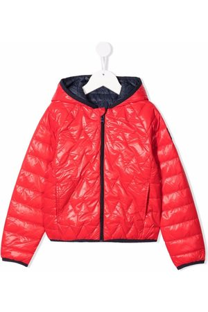 HUGO BOSS Hooded feather-down quilted jacket