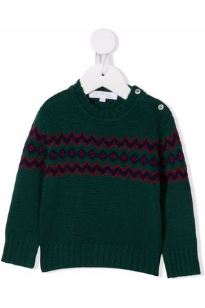 Mariella Ferrari Sweaters - Fair isle-knit jumper