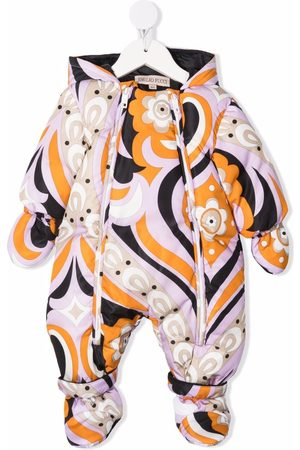 Emilio Pucci Abstract-pattern padded snowsuit