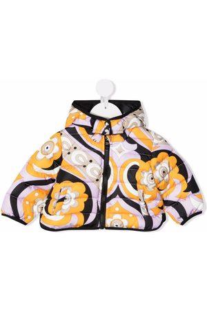Emilio Pucci Graphic-print padded coat