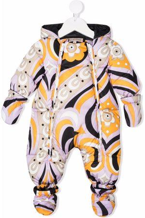 Emilio Pucci Graphic-print padded babygrow
